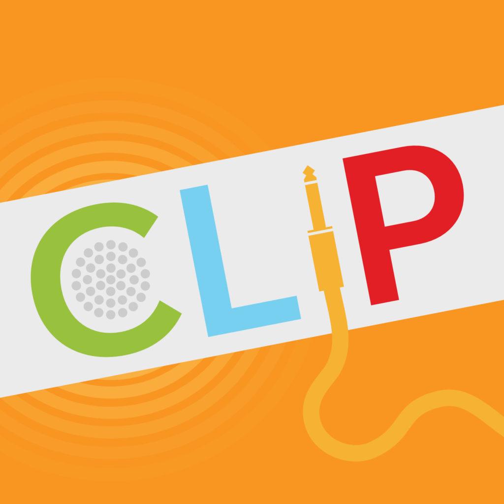 CLIP logo where the I is a guitar jack